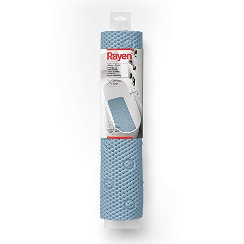 Rayen baño | Alfombra Ducha/bañera | Suave y Acolchada | Base Antideslizante | con ventosas de Alta Resistencia, Azul, Medidas: 45 x 91 cm