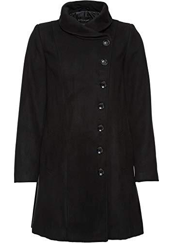 bonprix Eleganter Mantel mit besonderem Kragen schwarz 42 für Damen