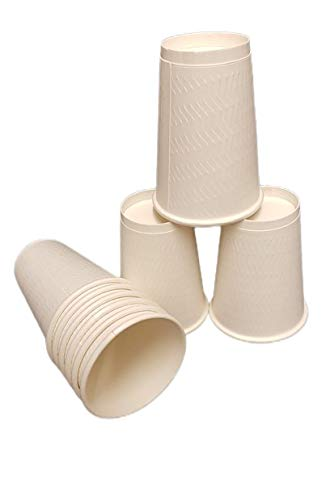 12oz Double Wall White Disposable Paper Cups (for Hot/Cold Drinks, Coffee/Tea Paper Cups, Perfect for Your Home, Café, Work, Parties or Outdoors) (25)