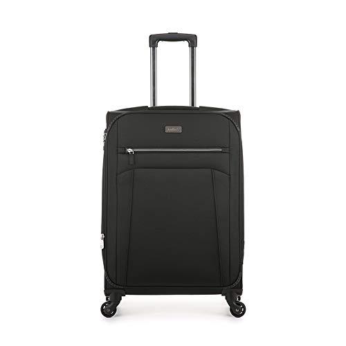 Antler Marcus 2 Siro, Durable & Expandable Lightweight Soft Shell Suitcase - Colour: Black, Size: Medium