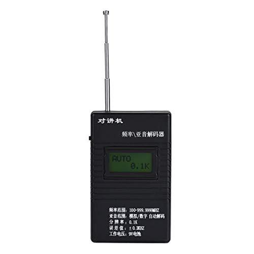 Gind Contador de frecuencia, Conveniente Contador de frecuencia portátil con un Modo de tecla, Uso Profesional para Aficionados a los usuarios de walkie-Talkie de propósito General