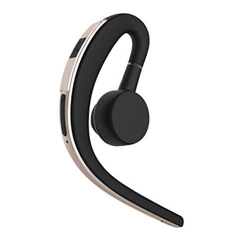 Auriculares OYSOHE inalámbricos Bluetooth Colgando Oreja Auriculares estéreo Auriculares Movimiento Manos Libres Universal (Oro)