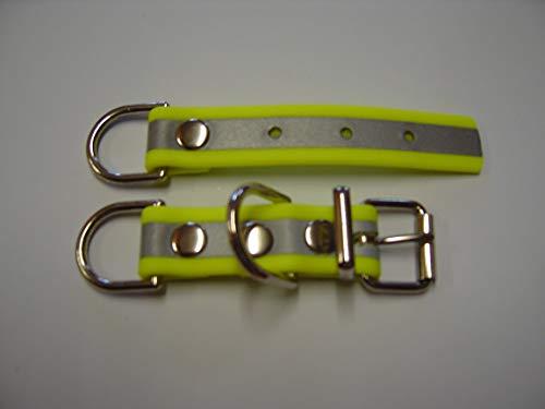 Angel for Pets MJH BioThane Reflex Halsband Verschluss Adapter verstellbar 19mm breit versch. Farben (neon gelb)