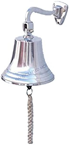 Chrome Hanging Ship S Bell 11 Decorative Chrome Bell Chrome Hanging Ship