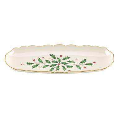 Lenox Holiday Cracker Tray,Ivory