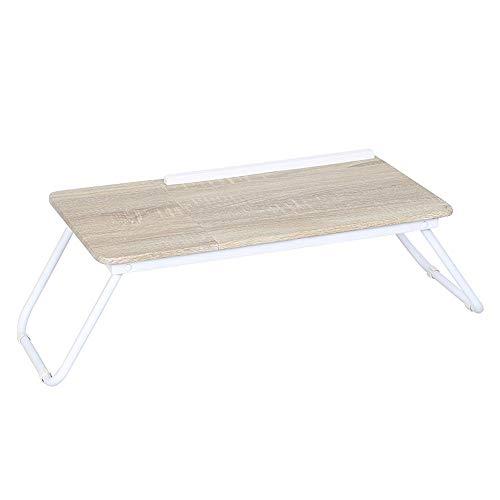 Mesa para laptop Con patas de la mesa del ordenador plegables pie turística Riser conveniente for el hogar Y la Escuela de Escritorio plegable para computadora ( Color : White , Size : 54x30cm )