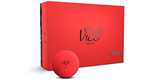Vice Golf Pro Soft Golfbälle, 12 Stück, PROSOFTRED, rot, One Dozen