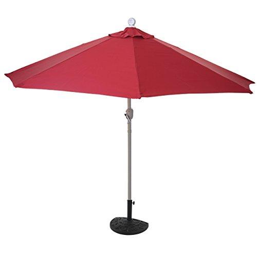 Mendler Sonnenschirm halbrund Parla, Halbschirm Balkonschirm, UV 50+ Polyester/Alu 3kg - 300cm terrakotta ohne Ständer