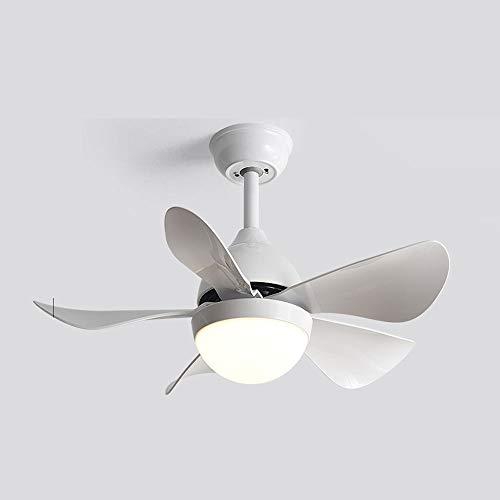 Yjdr Fan Light's Light Macaron Fan De Techo Araña con Pole Home Comedor Habitación Dormitorio Sala De Estudio Lámpara con Ventilador Eléctrico Multi-Color Opcional Romántico Dream 76 * 37cm
