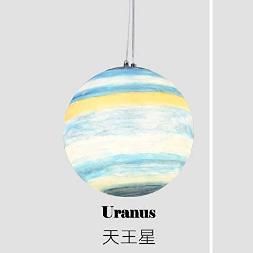 5151BuyWorld Lampe Mars Jupiter Saturn Uranus Sonne Merkur Erde-Mond-Hängende Beleuchtung Universum Planet Pendelleuchte Milchstraße Planet Pendelleuchte Top Qualität {Uranus & D25cm}