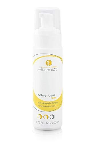 AESTHETICO active foam - Reinigungsschaum, porentiefe Gesichtsreinigung mit Glycol- und Salizylsubstanzen, für unreine und zu Akne neigende Haut, 200 ml