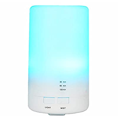 Walkas Mini Portable 7 Color LED Light Cool Mist Humidifier with Timed auto shutdown for Office Home