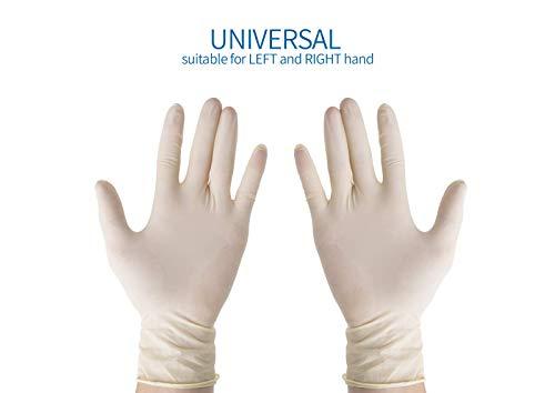 Avanti Medical - Guantes desechables de látex (talla M, 100 unidades, no estériles, para cosméticos, cocinas y alimentos, desechables)
