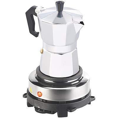 Rosenstein & Söhne Kleine Kochplatte: Elektrische Mini-Einzel-Kochplatte mit Espresso-Kocher, 500 W, Ø 10 cm (Kochplatte für Espressokocher)