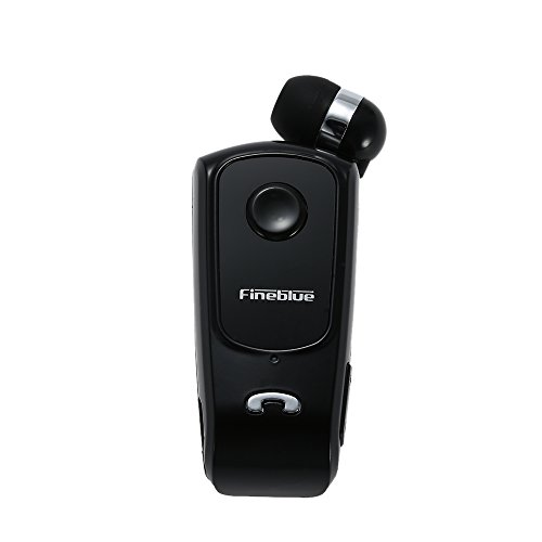 Festnight Bluetooth Wireless Headset Fineblue F920 BT 4.0 Stereo Vivavoce Auricolare Vibrante Avviso Multi Connessione Cuffie Cavo Retrattile con Clip per iPhone 6S 6 6 Plus Samsung S6 S5 Nota 4