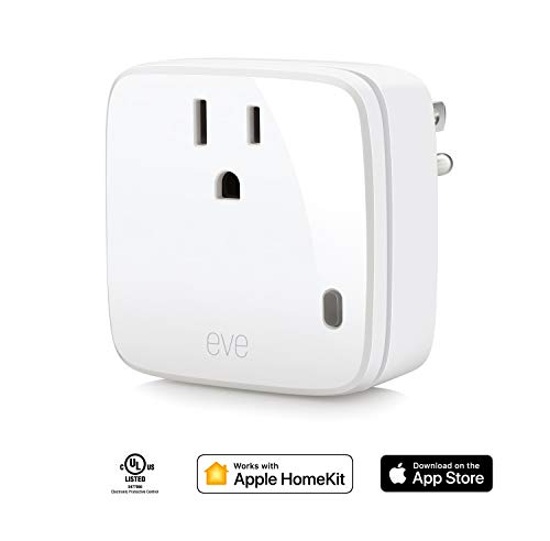 Eve Energy - Smart Plug & Power Meter with built-in schedules, switch a connected lamp or device on...