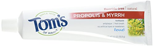 Toms of Maine Toothpaste Fennel Propolis Myrrh,5.5 Ounce (Pack of 4)
