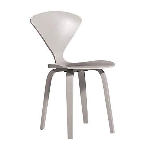 Silla de Comedor nórdica Creativa café de Madera Maciza Silla de Respaldo Muebles de Madera Curvada diseñador Hormiga Silla 2019 Gray