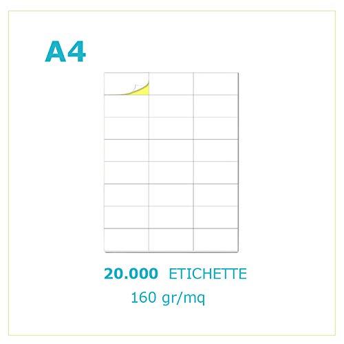 Palucart 20000 Etichette adesive carta vellum 160gr/mq 40 etichette per foglio stampa codici a barre FBA etichetta indirizzi