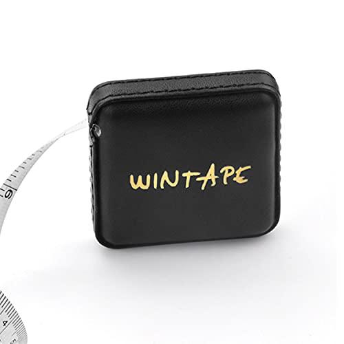 WINTAPE Cinta métrica para costura corporal, 150 cm, color negro y dorado