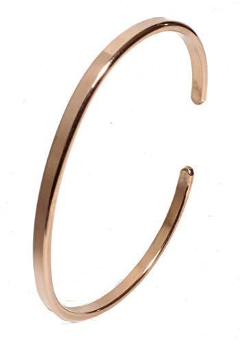 Bracciale in rame Nr.17 / forgiato a mano in rame massiccio. Spessore del materiale: 2 mm. / Larghezza 3 mm, cod. 164
