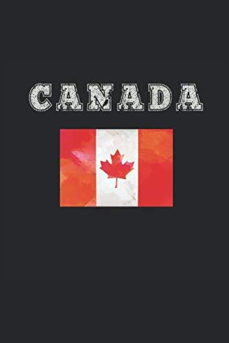 Kanada Notizbuch: Kanada Notizbuch Tagebuch Planer Notizblock 100 karierte Seiten 6x9 Zoll (ca. DIN A5)