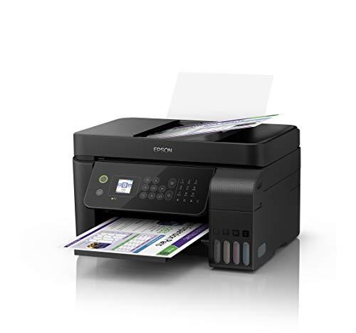 Epson EcoTank ET-4700 Stampante Multifunzione Inkjet a Colori 4 in 1 con Funzionalità ADF ed Ethernet, Nero