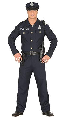 Fiestas Guirca Costume da Poliziotto Agente di Polizia Americano Uomo