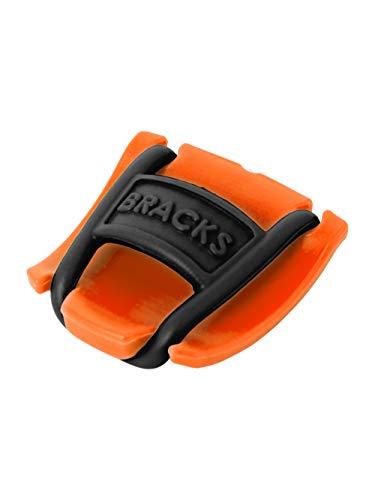 Bracks Clip Blocca Lacci, Innovativo per Tutte le Scarpe, Facile ed Efficace, 1 Paio, arancio-nero