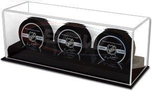 Hockey Puck Display Case for 3 Pucks by BCW