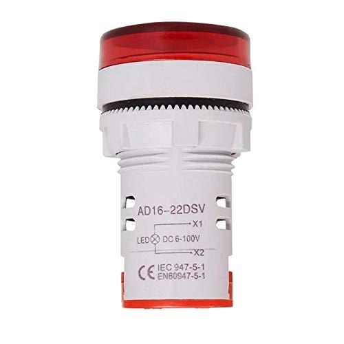 Lishaodonglishaodon 3 unids AC20-500V LED Medidor de voltaje de pantalla grande Medidor digital Volt Indicador de señalización Lámpara de señalización Voltímetro sin route Tester-Red Lishaodonglishaod