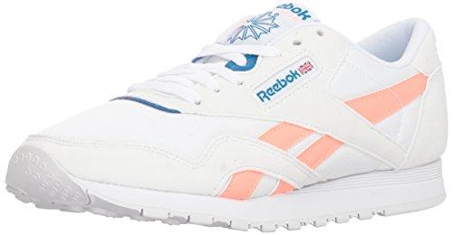 Reebok Classic Nylon, Zapatos para Senderismo para Mujer, Color Blanco Retro Digital Rosa, 35.5 EU
