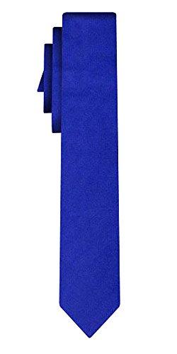 Cravate soie unie étroite solid royal blue /6cm