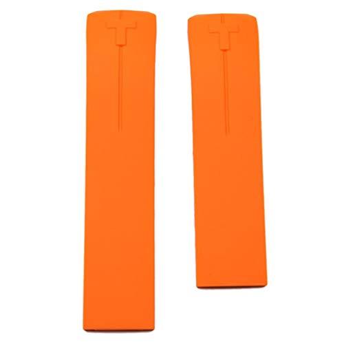 Tissot Watch Strap T610026463 Ersatz-Armband aus Kautschuk für T-Touch II und T-Touch Expert, orange
