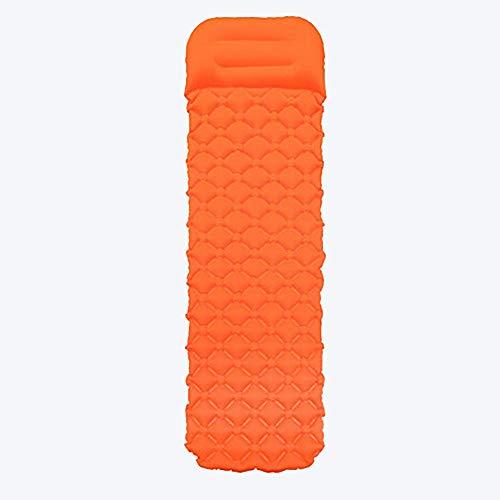 Zixin Luftmatratze, 1 pson Luftmatratze for Outdoor-Aktivitäten und Indoor-Bett mit Einer Tasche for die manuelle Inflation, Aufbewahrungstasche (Color : Orange, Size : 195 * 160 * 6CM)