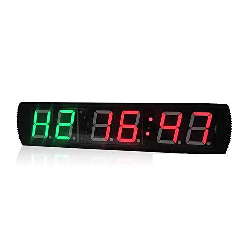 WyaengHai Countdown-Uhr Wand-Echtzeituhr Digital Interner Trainings-Timer Fitness-Studio-Stoppuhr mit Fernbedienung Lange Countdown-Zeit Geeignet für Fitness-Studio Fitness