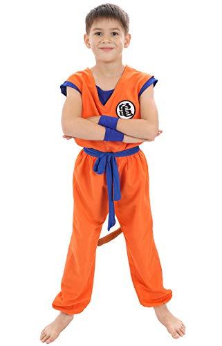 CoolChange Son Goku Kinder Kostüm | Trainingsanzug bei Muten Roshi | Größe: 110