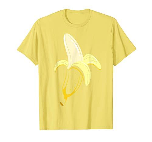 Geschälte Bananen Kostüm Nettes Früchte Halloween Outfit T-Shirt