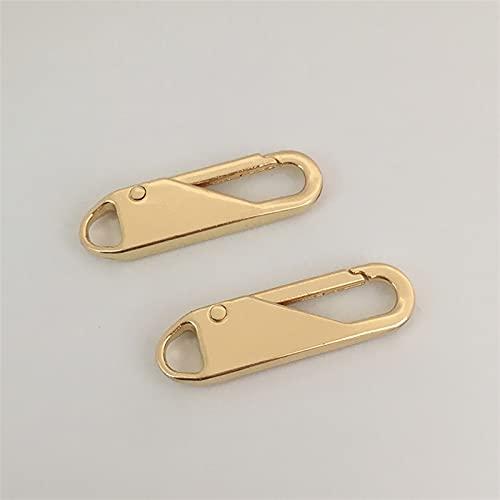Cqinju-Chiusure lampo Sliders con cerniera con zip con zip in metallo 2pcs FAI DA TE Kit di riparazione con cerniera artigianale per cucire per borse Accessory Zipper Repair Tool, Robusto e durevole