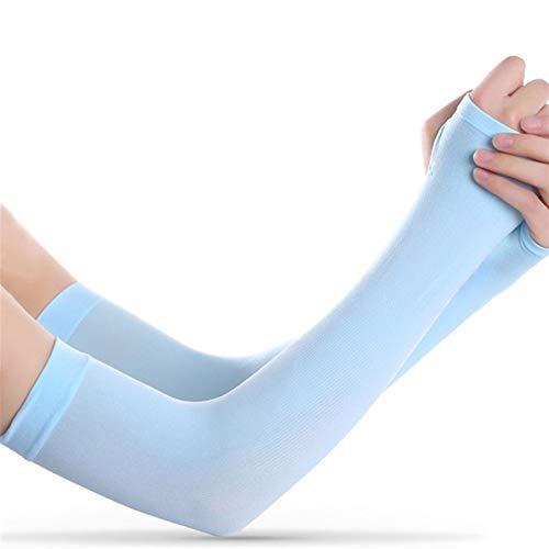 Gu3Je Atmungsaktiv, schweißabsorbierend 3 Paar UV-Schutz Der Lange Arm-Hülsen-Lauf Golf Radfahren Soft-Kühlwärmer Handschuhe for Erwachsene/Kinder für Jugendliche/Männer/Frauen