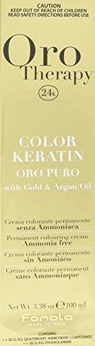 Fanola - Oro Therapy Color Keratin Puro, crema colorante permanente 100mL 10.1 Biondo platino cenere