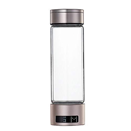 Doble Cuerpo De Copa Tres Usos Boquilla A Prueba De Fugas SPE Botella De Generador De Agua De Hidrógeno, La Electrólisis De Separación De Modo Dual Puede Mostrar Concentración(Size:20x6.8cm/7.8x2.6in)