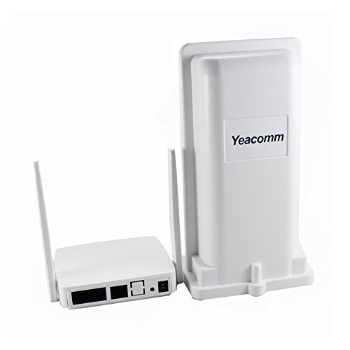 Yeacomm Outdoor Router 4G WiFi CPE, Mobile Router 4g Wi-Fi Supporta Tutti Gli Operatori in Italia, Mobile Router Hotspot Portatile con 2 antenne, 4G LTE Cat4 150Mbps