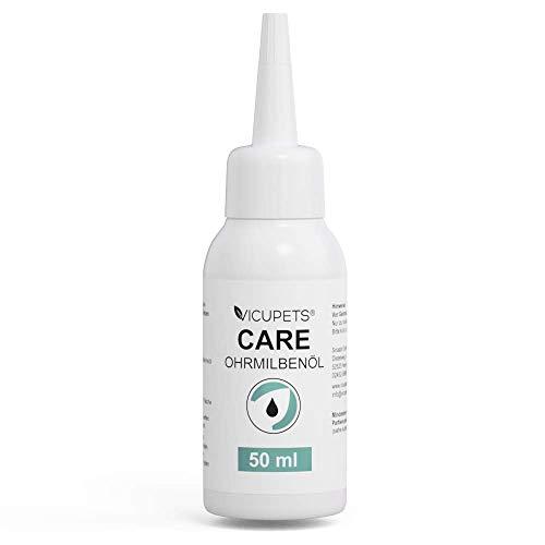 Vicupets Ohrmilbenöl | Milbenöl gegen Ohrmilben | Milbenmittel für Hund und Pferd | 50 ml