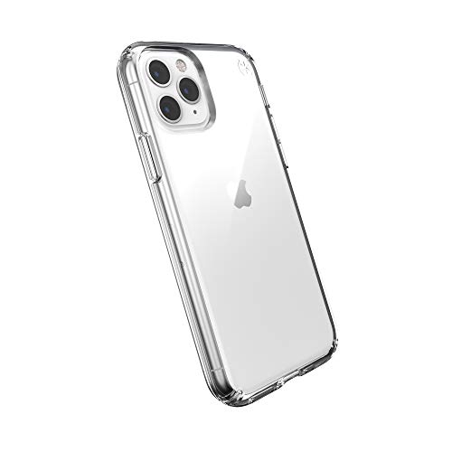 Speck Funda Protectora para iPhone 11 Pro Estuche Antichoque Duradero Resistente para Teléfono Móvil Smartphone Apple - Presidio Stay Clear - Transparente