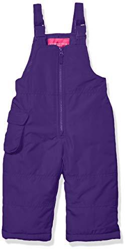 LONDON FOG Baby Girls Classic Snow Bib Ski Snowsuit, Punk Purple, 12 Months