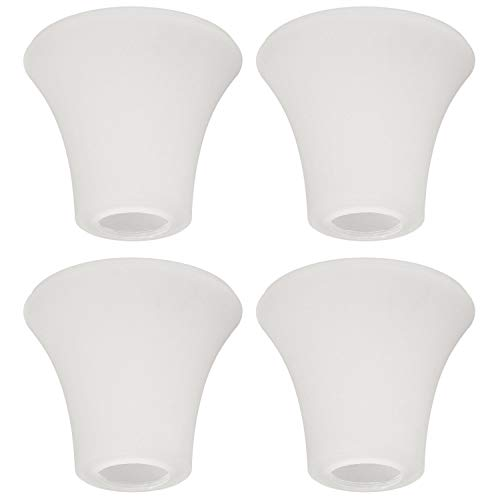 Eumyviv 4 Packs Bell Shaped Frosted Glass Lamp Shade Replacement for Ceiling Fan Kit Hanging Lighting Fixture A00049