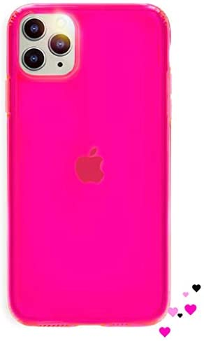 NYCPrimeTech iPhone 11 Pro Max Case/Slim & Soft Transparent Hot Pink Cover for iPhone 11 Pro Max/Soft Flexible & Stylish Case for iPhone 11 Pro Max// 6.5″ (Hot Pink)