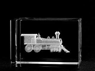 Asfour Crystal 1159-70-16 2 L x 2.75 H x 2 W in. Crystal Laser-Engraved Locomotive Transportation Laser-Cut