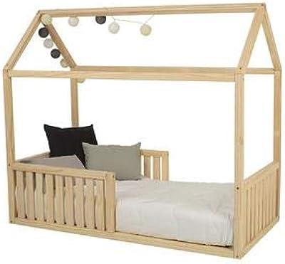 Childrens Beds Home Cama Individual con Dosel de Madera ...